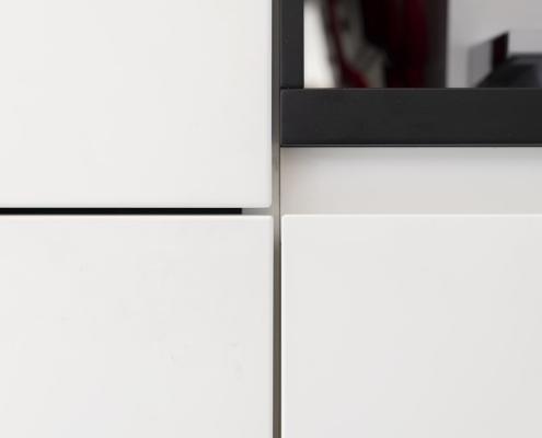 Moderne witte keukenkastjes