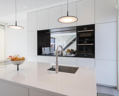 Keuken met spiegel